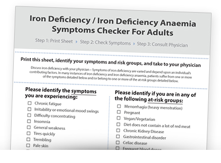 adult symptom checker iron deficiency
