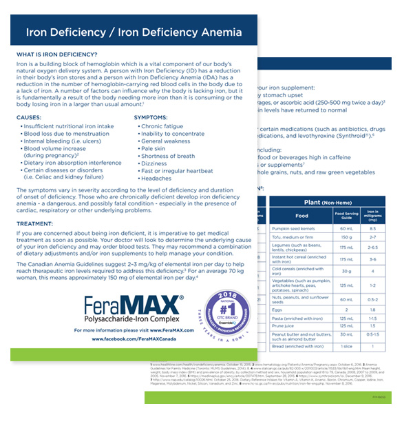 Iron Deficiency Information Sheet
